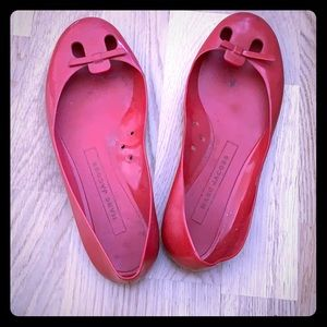Used Marc by Marc Jacobs red rain ballet flats